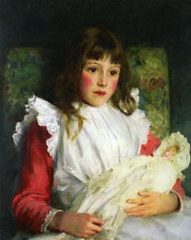 Portrait of Molly Dalrymple, 1891 by Tuke | Painting Reproduction