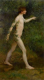 A Woodland Bather, 1893 by Tuke | Painting Reproduction