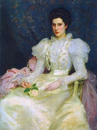 Miss Muriel Lubbock, 1897 by Tuke | Painting Reproduction