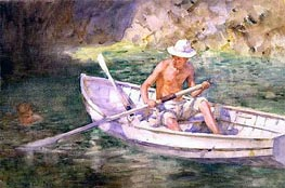 Green Waters, 1911 by Tuke | Painting Reproduction