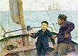 The Steering Lesson | Henry Scott Tuke