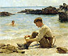T. E. Lawrence as a cadet at Newporth Beach, near Falmouth | Henry Scott Tuke