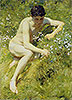 In the Meadow | Henry Scott Tuke