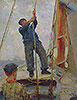Hoisting the Mainsail | Henry Scott Tuke