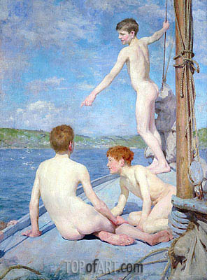 The Bathers, 1889 | Tuke| Gemälde Reproduktion