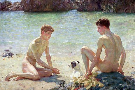 Comrades, 1924 | Tuke | Painting Reproduction