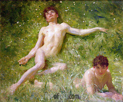 The Sunbathers, undated | Tuke | Gemälde Reproduktion