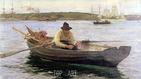 The Fisherman, 1889 | Tuke| Gemälde Reproduktion
