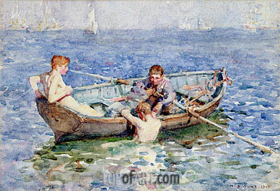 August Blue, 1915 | Tuke | Painting Reproduction