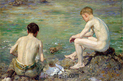 Three Companions, 1906 | Tuke| Painting Reproduction