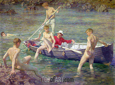 Ruby, Gold and Malachite, 1902 | Tuke| Painting Reproduction
