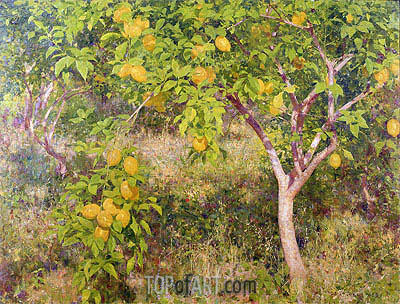 The Lemon Tree, 1893 | Tuke| Painting Reproduction