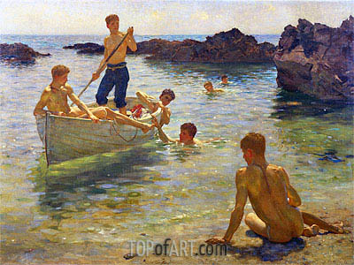 Morning Splendour, 1922 | Tuke| Painting Reproduction
