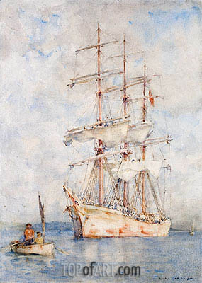 The White Ship, 1915 | Tuke | Painting Reproduction