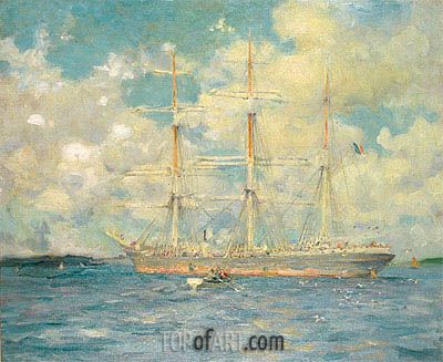 Tuke | A French Barque in Falmouth Bay, 1902