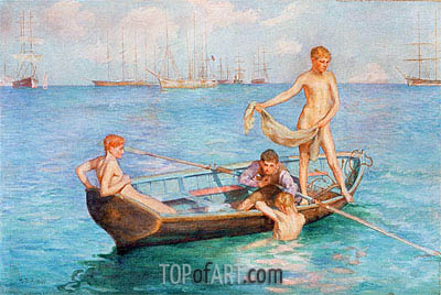 August Blue, 1896 | Tuke| Painting Reproduction