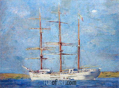 White Barque, 1896 | Tuke | Painting Reproduction