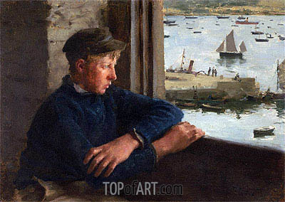The Look Out, 1886 | Tuke | Painting Reproduction