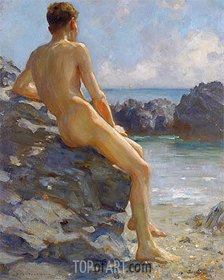 The Bather, 1924 | Tuke| Gemälde Reproduktion