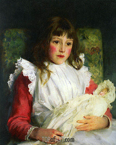 Portrait of Molly Dalrymple, 1891 | Tuke| Painting Reproduction
