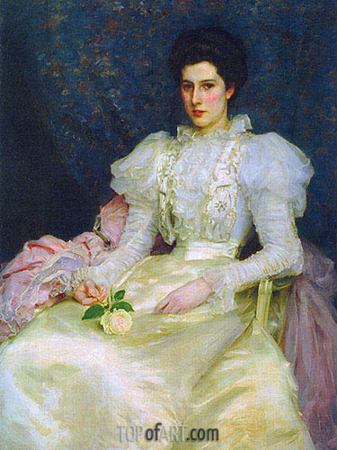Miss Muriel Lubbock, 1897 | Tuke | Painting Reproduction