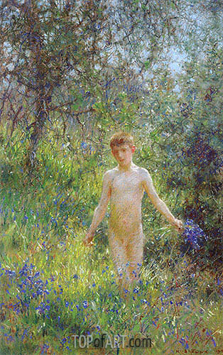 Bluebells, 1907 | Tuke | Painting Reproduction