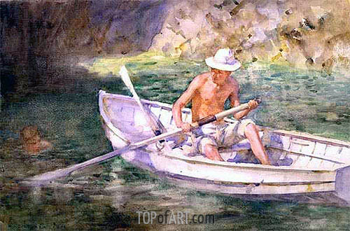 Green Waters, 1911 | Tuke| Painting Reproduction