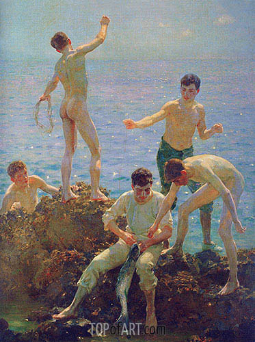 Midsummer Morning, 1907 | Tuke | Painting Reproduction