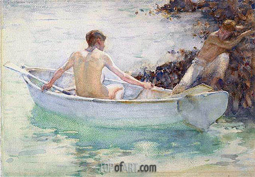 Embarkation, 1912 | Tuke| Painting Reproduction