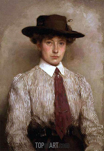 Portrait of Ida Hamilton, 1909 | Tuke | Painting Reproduction