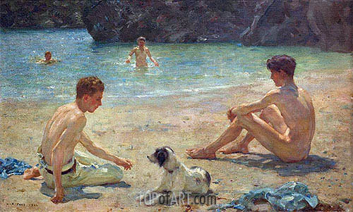 Companions, 1924 | Tuke | Painting Reproduction
