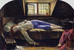 The Death of Chatterton, 1856 by Henry Wallis | Painting Reproduction