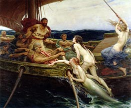 Ulysses and the Sirens, 1909 von Herbert James Draper | Gemälde-Reproduktion