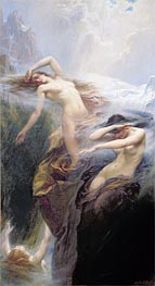 The Mountain Mists (Clyties of the Mist), 1912 von Herbert James Draper | Gemälde-Reproduktion