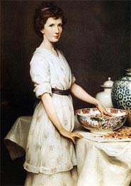 Yvonne Draper, 1912 by Herbert James Draper | Painting Reproduction
