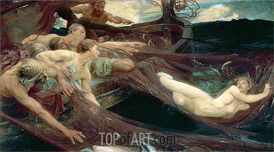 The Sea Maiden, 1894 | Herbert James Draper| Painting Reproduction