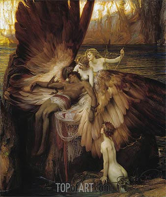 Herbert James Draper | The Lament for Icarus, 1898