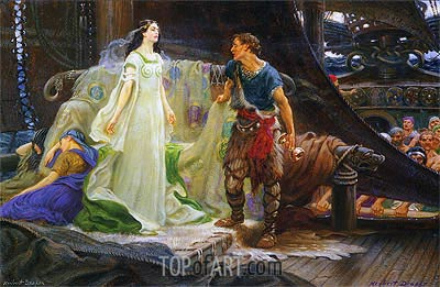 Tristan and Isolde, undated | Herbert James Draper | Painting Reproduction