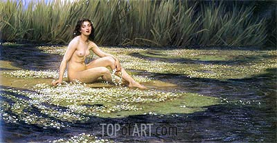 The Water Nixie, 1908 | Herbert James Draper | Painting Reproduction
