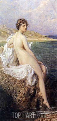 Bathers, 1908 | Herbert James Draper | Painting Reproduction