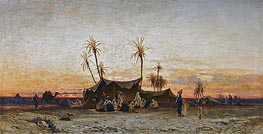An Arab Encampment at Sunset, undated by Hermann David Salomon Corrodi | Painting Reproduction