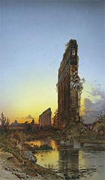Ruins at Sunset, undated by Hermann David Salomon Corrodi | Painting Reproduction