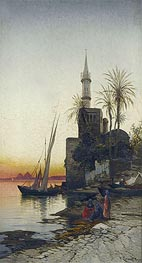 On the Banks of the Nile, undated von Hermann David Salomon Corrodi | Gemälde-Reproduktion