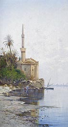 On the Banks of the River Nile, undated von Hermann David Salomon Corrodi | Gemälde-Reproduktion