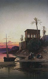 The Kiosk of Trajan, Philae on the Nile, undated by Hermann David Salomon Corrodi | Painting Reproduction
