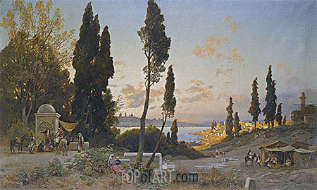 View across the Bosphorus, Constantinople, undated | Hermann David Salomon Corrodi| Painting Reproduction