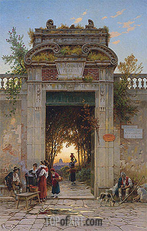 Hermann David Salomon Corrodi | On the Via Flaminia near the Villa Cavalieri, undated