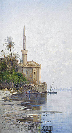 On the Banks of the River Nile, undated | Hermann David Salomon Corrodi| Painting Reproduction