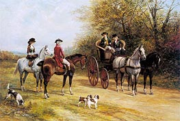 A Chat with His Lordship, undated by Heywood Hardy | Painting Reproduction