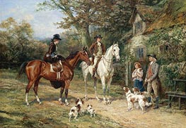 A Convivial Greeting, 1906 by Heywood Hardy | Painting Reproduction
